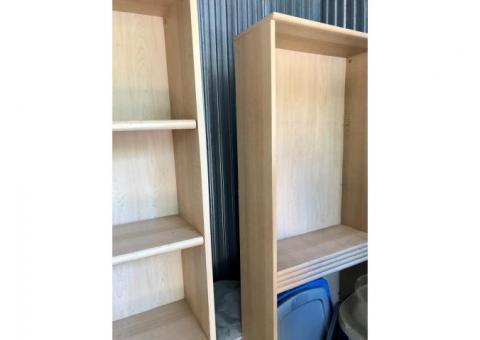 Two Large Adjustable Bookshelf's With Adjustable Shelves